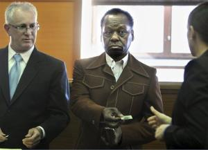 Onyango Obama, the uncle of President Obama, surrenders his driving license in Framingham, Mass. earlier this year.