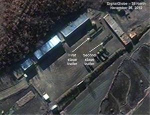 This satellite image shows the Sohae Satellite Launch Station in Cholsan County, North Pyongan Province, North Korea.