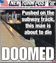 The 'New York Post' tweeted this picture of its cover.