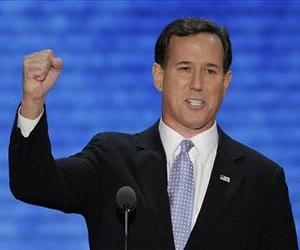 Former Pennsylvania Sen. Rick Santorum addresses the Republican National Convention in Tampa, Fla., on Tuesday, Aug. 28, 2012.