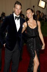 Tom Brady and Gisele Bundchen arrive at the Metropolitan Museum of Art Costume Institute gala benefit, celebrating Elsa Schiaparelli and Miuccia Prada, Monday, May 7, 2012 in New York.
