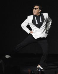 Psy performs during the second night of KIIS FM's Jingle Ball at Nokia Theatre LA Live on Dec. 3, 2012, in Los Angeles.