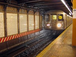A New York subway train.