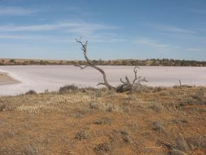 Despite what Apple's map says, this is a salt lake in the Murray-Sunset National Park, not the city of Mildura.