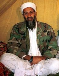 This is an undated file photo shows then-al Qaida leader Osama bin Laden, in Afghanistan.