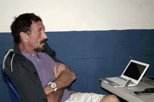 Software company founder John McAfee is seen at an immigration detention center in Guatemala City last week.