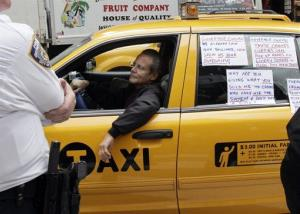 File photo of a New York City taxi driver.