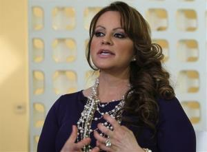 In this March 8, 2012, file photo, Mexican-American singer and reality TV star Jenni Rivera speaks during an interview in Los Angeles.