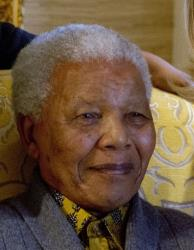 This photo taken Aug. 6, 2012, shows former South African President Nelson Mandela.