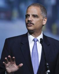 United States Attorney General Eric Holder addresses the International Association of Chiefs of Police conference Monday, Oct. 1, 2012 in San Diego.