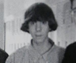 This undated photo shows Adam Lanza posing for a group photo of the technology club which appeared in the Newtown High School yearbook.
