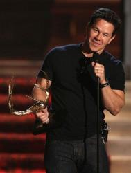 Mark Wahlberg accepts the best fight scene award at the 2012 Guys Choice Awards on Saturday June 2, 2012 in Culver City, Calif.