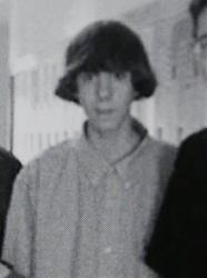 This undated photo shows Adam Lanza posing for a group photo of the technology club that appeared in the Newtown High School yearbook.