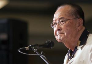 U.S. Sen. Daniel Inouye speaks at the Japanese Cultural Center, Tuesday, Nov. 6, 2012 in Honolulu.