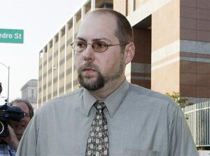 In this Nov. 1, 2011 file photo, Christopher Chaney, 35, of Jacksonville, Fla., leaves federal court in Los Angeles.