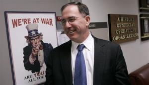 Michael G. Vickers speaks with The Associated Press during an interview at the Pentagon in this Nov. 16, 2007 file photo.