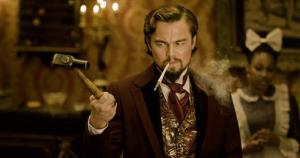 This undated publicity image released by The Weinstein Company shows Leonardo DiCaprio as Calvin Candle in Django Unchained, directed by Quentin Tarantino.