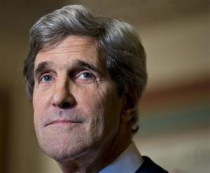 This Dec. 3, 2012 file photo shows Senate Foreign Relations Chairman Sen. John Kerry, D-Mass., at a news conference on Capitol Hill in Washington.