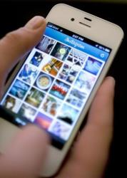Instagram is used on an iPhone in this file photo.