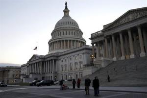 People visit the U.S. Capitol in Washington, on Wednesday, Dec. 19, 2012, as negotiations on the fiscal cliff.
