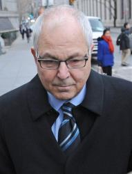 Peter Madoff arrirves at Manhattan federal court for his sentencing Thursday.