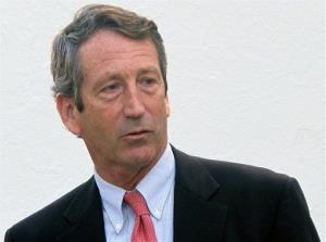 In this Jan. 19, 2012, file photo, former South Carolina Gov. Mark Sanford leaves a talk on federal fiscal policy at The Citadel in Charleston, SC.