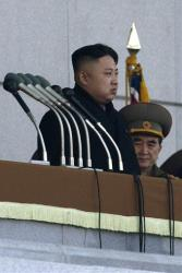 North Korean leader Kim Jong Un attends a ceremony to reopen the Kumsusan Palace of the Sun in Pyongyang, North Korea, on Monday, Dec. 17, 2012.
