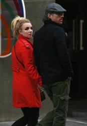 Britney Spears, left, and her boyfriend Jason Trawick are seen in central Kiev, Ukraine, Sunday, Sept. 25, 2011.