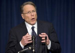 The National Rifle Association's Wayne LaPierre speaks.