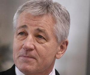 Chuck Hagel is seen in this file photo.
