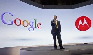Eric Schmidt, Google's chairman, speaks during a press conference on Sept. 5, 2012 when Motorola introduced three new smartphones, the first since it became  a a part of Google.