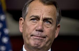 Speaker of the House John Boehner, R-Ohio, speaks to reporters Friday. Asked what happens next on the fiscal cliff, he responded, God only knows.