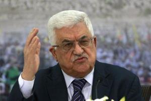 In this Friday, Nov. 16, 2012, file photo, Palestinian President Mahmoud Abbas speaks during a meeting of the Palestinian leadership at his compound in the West Bank city of Ramallah.