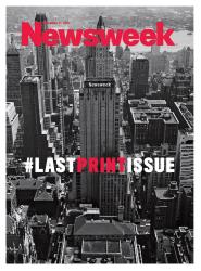 No more Photoshopped Dianas: The cover of Newsweek's final print edition.