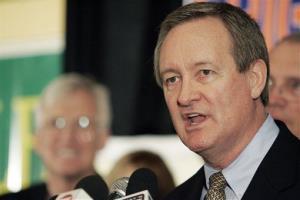 In this Nov. 2, 2010 file photo, U.S. Sen. Mike Crapo, R-Idaho, gives his victory speech at the Republican Party election headquarters held at the Doubletree Riverside Hotel in Boise, Idaho.