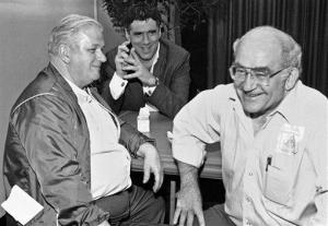 In this 1984 file photo, from left, Charles Durning, Eliott Gould and Ed Asner.
