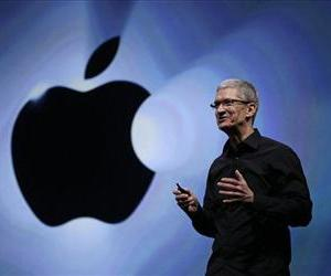 In this Wednesday, Sept. 12, 2012, file photo, Apple CEO Tim Cook speaks following an introduction of the new iPhone 5 in San Francisco.