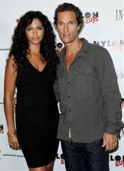 Matthew McConaughey and Camila Alves in a file photo from August.
