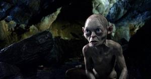 Gollum, voiced by Andy Serkis, in a scene from the fantasy adventure The Hobbit: An Unexpected Journey.
