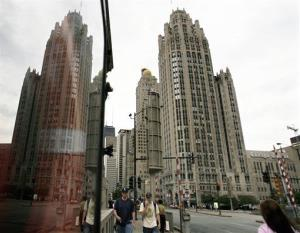 The Tribune Tower is seen along Chicago's Michigan Avenue.