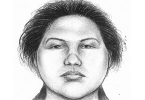 A composite sketch showing the woman believed to have pushed a man to his death in front of a subway train on Thursday, Dec. 27, 2012. Police arrested Erika Menendez on Saturday, Dec. 29, 2012.