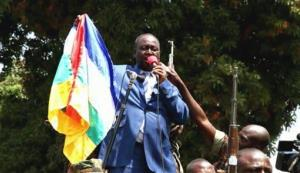 In this frame  grab taken from APTN  footage from Thursday, Dec. 27, 2012, President Francois Bozize addresses  crowds, in Bangui, Central African Republic.