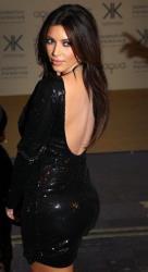Kim Kardashian arrives for their Kardashian Kollection UK Launch at Acqua Club in central London, Thursday, Nov. 8, 2012.