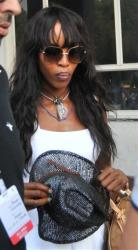 British supermodel Naomi Campbell arrives at Jodhpur, India, Sunday, Nov. 4, 2012.