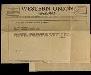 An old Western Union telegram is seen in this file photo.