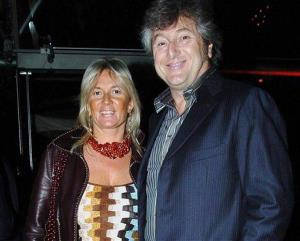 In this photo taken on March 30, 2005 Vittorio Missoni, right, and his wife Maurizia Castiglioni smile in Milan, Italy.