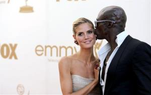 Heidi Klum, left, and Seal arrive at the 63rd Primetime Emmy Awards on Sunday, Sept. 18, 2011 in Los Angeles.