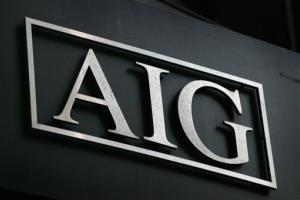 The AIG logo is shown in New York.