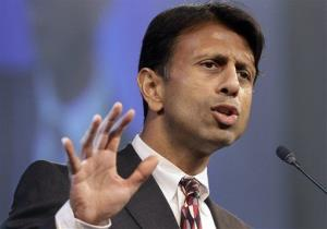 In this Friday, July 27, 2012 file photo, Louisiana Gov. Bobby Jindal speaks at a Republican Party of Arkansas fundraising dinner in Hot Springs, Ark.