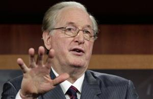 This Aug. 3, 2011 file photo shows Sen. Jay Rockefeller, of West Virginia, speaking on Capitol Hill in Washington.